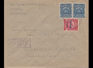Bolivia/Bolivien: Registered 1925 from Cochabamba to Berlin