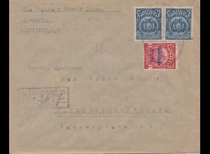 Bolivia/Bolivien: Registered 1925 from Cochabamba to Berlin