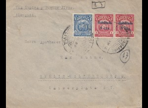 Bolivia/Bolivien: 1926: Registered Cochabamba to Berlin