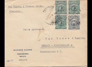 Bolivia/Bolivien: 1928: Cochabamba to Berlin