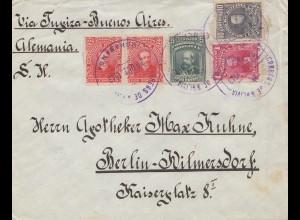 Bolivia/Bolivien: Cochabamba to Berlin 1913: