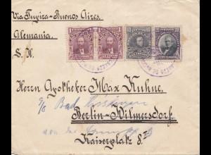 Bolivia/Bolivien: 1915: Cochabamba to Berlin