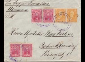 Bolivia Cochabamba via Buenos Aires to Berlin 1915