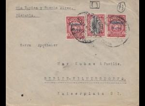 Bolivia/Bolivien: 1925: Cochabamba via Buenos Aires to Berlin