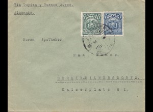 Bolivia/Bolivien: 1925 Cochabamba via Buenos Aires to Berlin in Germany