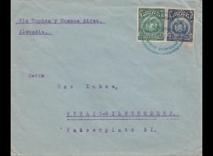 Bolivia: 1921: Cochabamba via Buenos Aires to Berlin