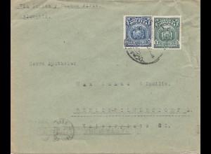 Bolivia/Bolivien: 1926: Cochabamba via Buenos Aires to Berlin