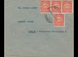 Bolivia/Bolivien: 1928 cover Cochabamba to Germany/Berlin