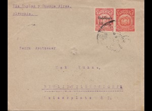 Bolivia/Bolivien: cover 1924 Cochabamba via Buenos Aires to Germany/Berlin