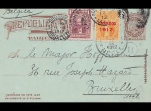 Bolivia/Bolivien: 1912: Postcard to Buxelles/Belgium