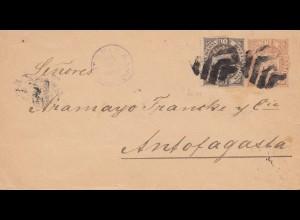 Bolivia/Bolivien: 1895: cover Tupiza to Anfofagasta