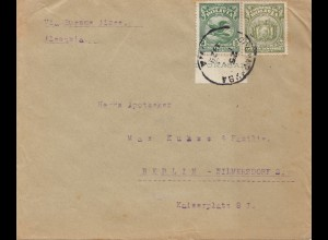 Bolivien: 1929: Cochabamba to Berlin/Germany