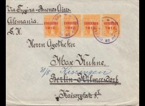 Bolivia/Bolivien: 1912 to Berlin from Cochabamba