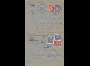 Bolivia/Bolivien: 1925: 2x Cochabamba to Berlin