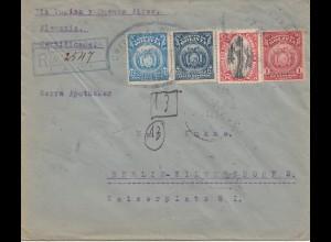 Bolivia/Bolivien: 1923: Registered Cochabamba to Berlin/Germany