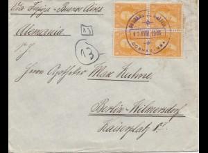 Bolivia/Bolivien: 1915: Cochabamba to Berlin/Germany