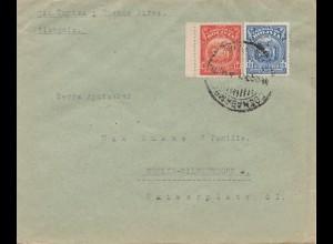 Bolivien: 1926 Cochabamba via Buenos Aires to Berlin/Germany