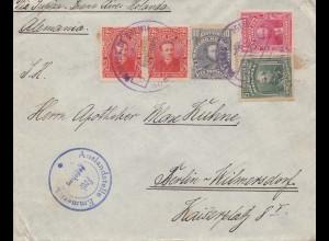 Bolivia/Bolivien:1915 Cochabamba to Berlin/Germany, Auslandsstelle Emmerich Frei