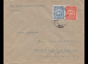 1927 cover Cochabamba via Buenos Aires to Berlin/Germany