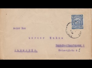 Bolivia/Bolivien: 1930 Cochabamba to Berlin, Junghans-watch,