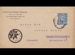 Bolivia/Bolivien: 19xx Cochabamba to Berlin, Junghans-watch,