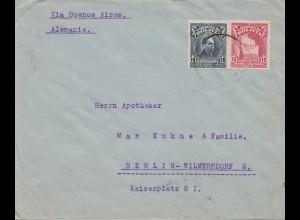 Bolivia/Bolivien: 1928 Cochabamba to Berlin/Germany