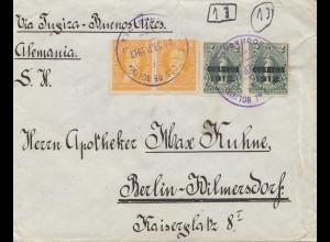 Bolivia/Bolivien: 1913 Cochabamba to Berlin/Germany