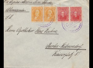 Bolivia/Bolivien: 1915 Cochabamba via Buenos Aires to Berlin/Germany