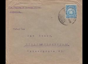 Bolivien: 1922 Cochabamba via Tupiza-Buenos Aires to Berlin/Germany