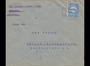 Bolivia/Bolivien: 1921 Cochabamba via Tupiza-Buenos Aires to Berlin/Germany