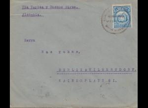 Bolivien: 1922 Cochabamba to Berlin/Germany