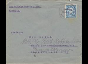 Bolivia/Bolivien: 1921 Cochabamba to Berlin/Germany