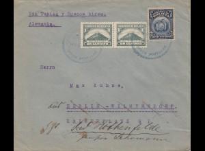 Bolivia/Bolivien: 1923 Cochabamba to Berlin/Germany via Villazon