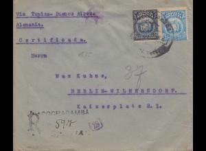 Bolivien: 1921 Cochabamba to Berlin/Germany Registered, censor