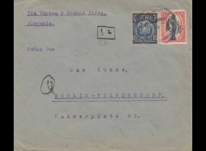 Bolivia/Bolivien: 1931 Cochabamba to Berlin/Germany