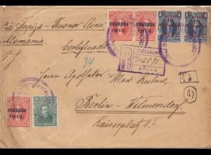 Bolivia/Bolivien: 1912 Cochabamba to Berlin/Germany