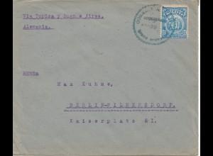 Bolivia/Bolivien: 1921: Cochabamba via Buenos Aires to Berlin