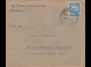 Bolivien: Cochabamba via Buenos Aires to Berlin 1922