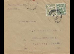 Bolivia/Bolivien: 1929: Cochabamba to Berlin/Germany