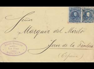 Bolivia/Bolivien: 1904: La Paz to Peru