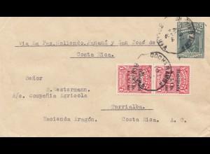 Bolivia/Bolivien: 1933 Cochabamba via La Paz, Panama to Costa Rica, Vasenol