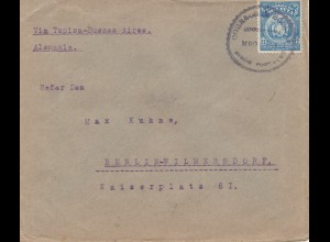 Bolivia: 1922 Cochabamba via Tupiza-Buenos Aires to Berlin/Germany
