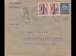 Bolivia/Bolivien: 1922 Cochabamba to Berlin/Germany
