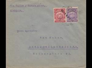 Bolivia/Bolivien: 1923 Cochabamba via Tupiza-Buenos Aires to Berlin/Germany