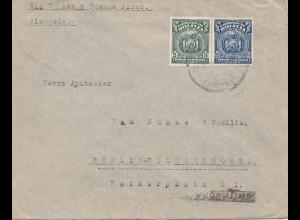 Bolivia/Bolivien: 1926 Cochabamba via Tupiza-Buenos Aires to Berlin/Germany
