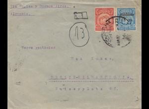 Bolivia: Cochabamba 1924 via Tupiza-Buenos Aires to Berlin/Germany