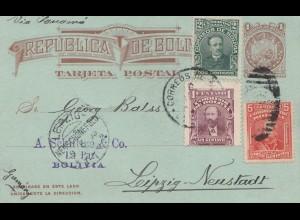 Bolivia/Bolivien: 1905 La Paz Post card to Germany