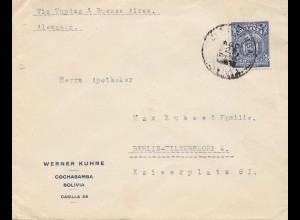 Bolivia/Bolivien: cover from Cochabamba to Berlin/Germany