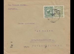 Bolivia/Bolivien: 1929 Cochabamba to Berlin/Germany