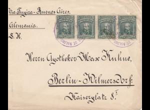 Bolivia/Bolivien: 1913 Cochabamba via Buenos Aires to Berlin/Germany